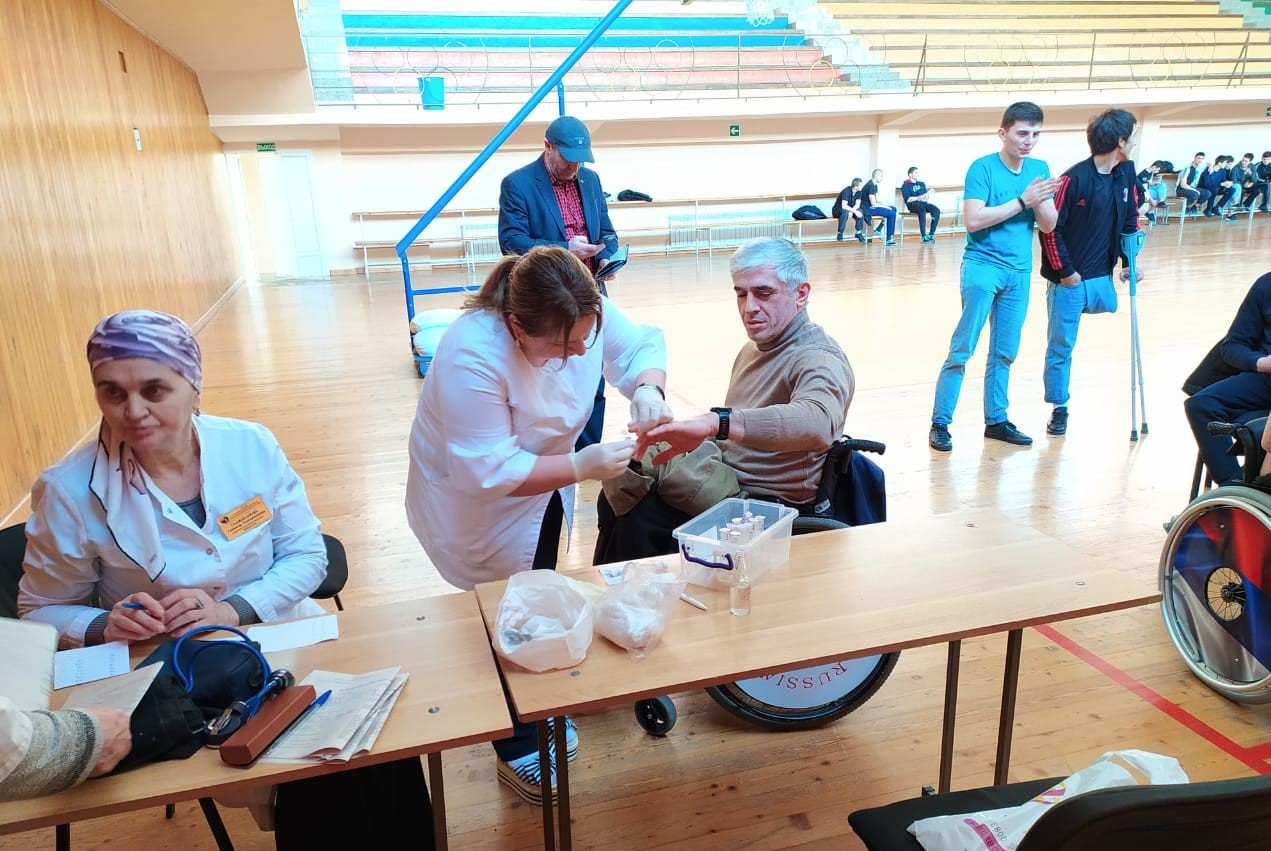 Расширенная бригада Республиканского центра медицинской профилактики провела на минувшей неделе углубленное медицинское обследование спортсменов-инвалидов