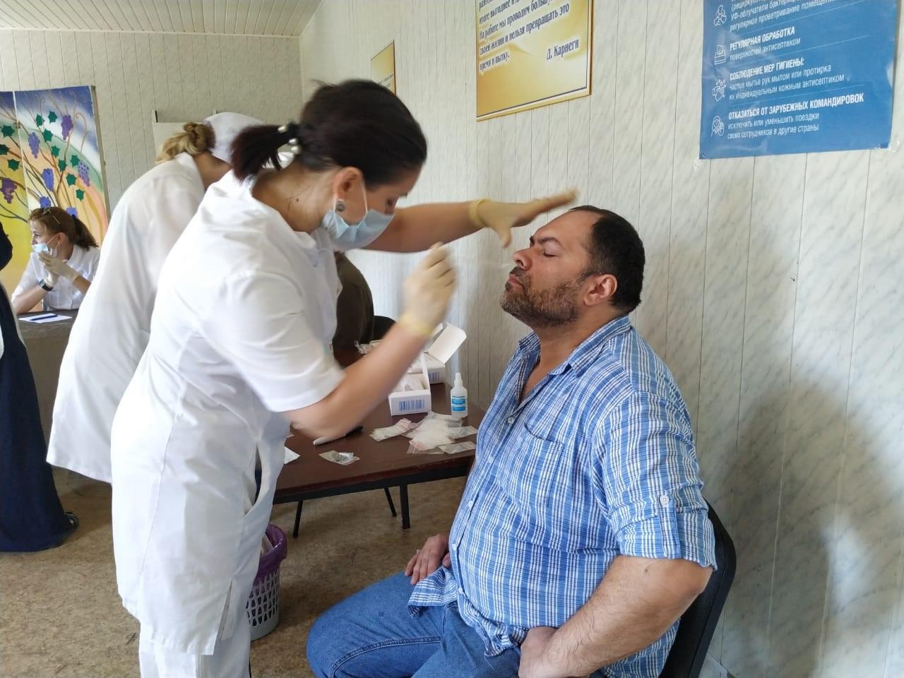 Специалисты Республиканского центра медицинской профилактики (РЦМП) приняли участие в обследовании работников Аварского театра на COVID-19