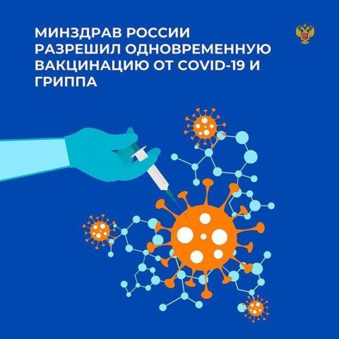 Минздрав России разрешил одновременную вакцинацию от COVID-19 и гриппа. Изменения уже внесены в инструкцию по применению вакцины «Спутник V»